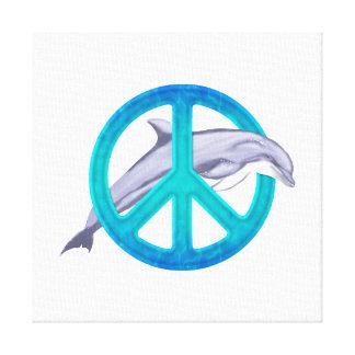 Dolphin Peace Canvas Print