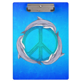 Dolphin Peace Clipboard