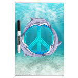 Dolphin Peace Dry-Erase Whiteboards