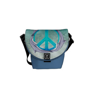 Dolphin Peace Messenger Bags