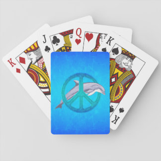 Dolphin Peace Poker Cards
