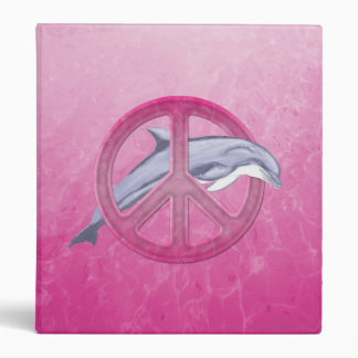 Dolphin Peace Pink Binders
