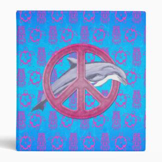 Dolphin Peace Pink Vinyl Binder