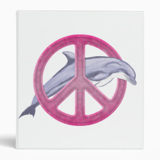 Dolphin Peace Pink Binder