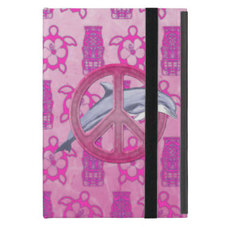 Dolphin Peace Pink iPad Mini Case