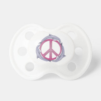 Dolphin Peace Pink Pacifier