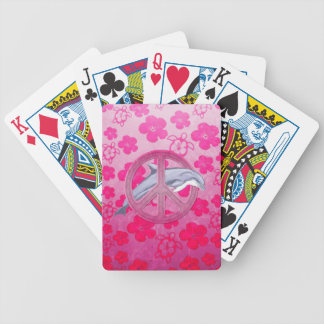 Dolphin Peace Pink Card Deck