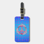 Dolphin Peace Pink Tags For Bags