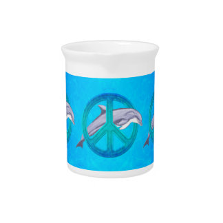 Dolphin Peace Pitcher