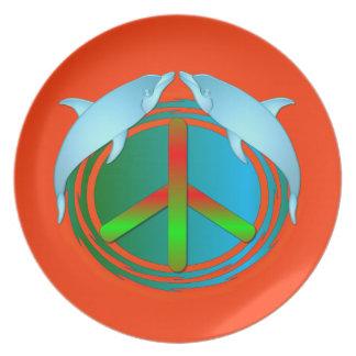 Dolphin Peace Plate