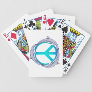 Dolphin Peace Bicycle Playing Cards
