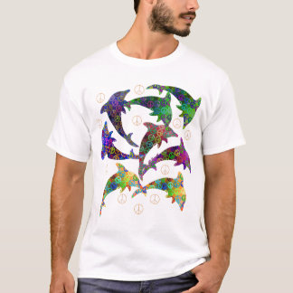 Dolphin Peace Pod Two Side Shirt