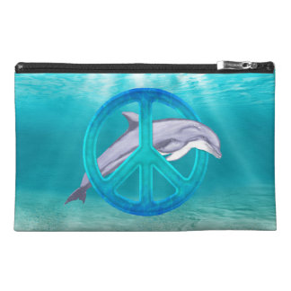 Dolphin Peace Symbol Travel Accessory Bag