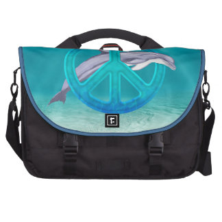 Dolphin Peace Symbol Bag For Laptop