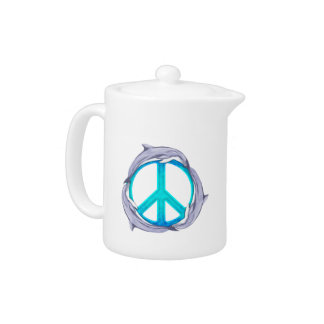 Dolphin Peace Teapot