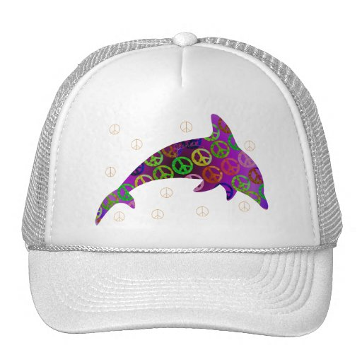 Dolphin Peace Wednesday Cap Trucker Hat
