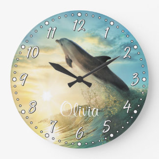 Dolphin Personalizable Wall Clock