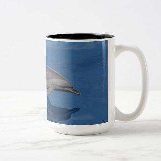 Dolphin Photo Two-Tone Coffee Mug