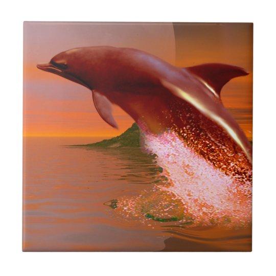 Dolphin Planet Ceramic Tile