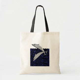 Dolphin Play Tote Bag