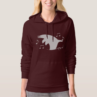 Dolphin Playing Among Music Notes Hoodie