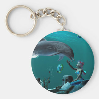Dolphin playing key chains