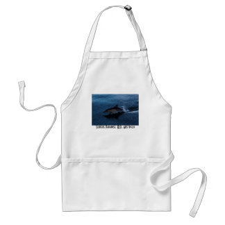 Dolphin Playing off Surfers Paradise Adult Apron
