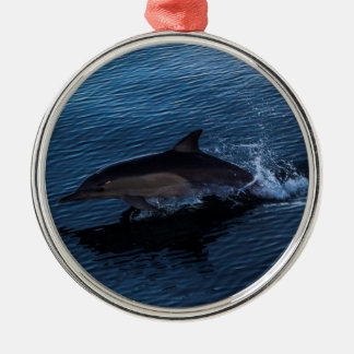 Dolphin Playing off Surfers Paradise Metal Ornament