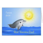 Dolphin Playing with Sun Greeting Card