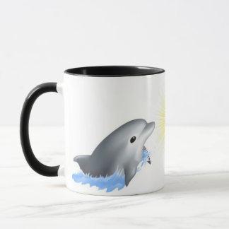 Dolphin Playing with Sun Mug