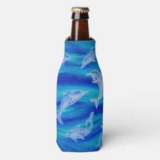 Dolphin Pod Bottle and Can Huggies Bottle Cooler