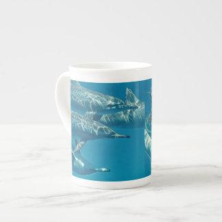 Dolphin Pod Painting Tea Cup