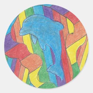 Dolphin Pride Classic Round Sticker