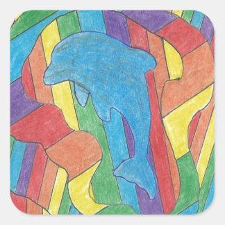 Dolphin Pride Square Sticker