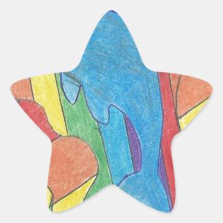 Dolphin Pride Star Sticker