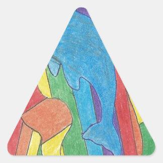 Dolphin Pride Triangle Sticker