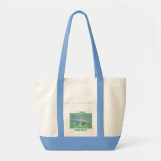 dolphin print, I Love , Dolphins Tote Bag