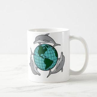 Dolphin Recycle Classic White Coffee Mug