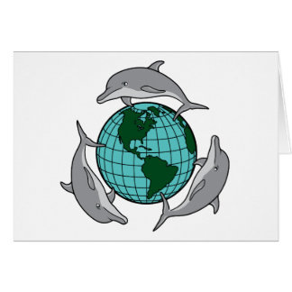 Dolphin Recycle Greeting Card