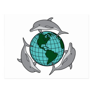 Dolphin Recycle Postcard