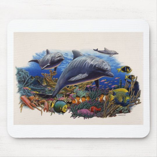 Dolphin Reef Aquatic Mouse Pad