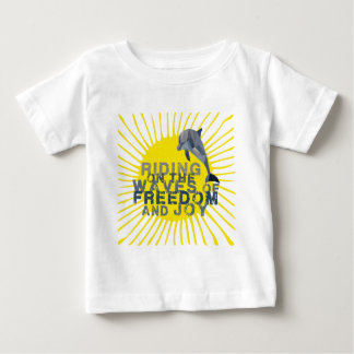 Dolphin riding the waves baby T-Shirt