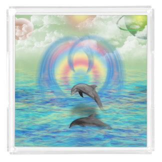 Dolphin Rising Acrylic Tray