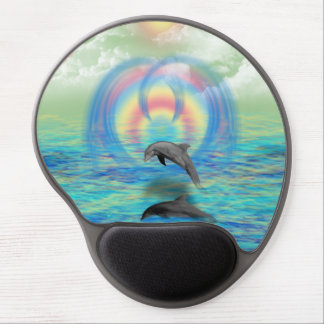 Dolphin Rising Gel Mouse Pad