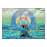 Dolphin Rising Greeting Card