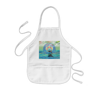 Dolphin Rising Kids' Apron