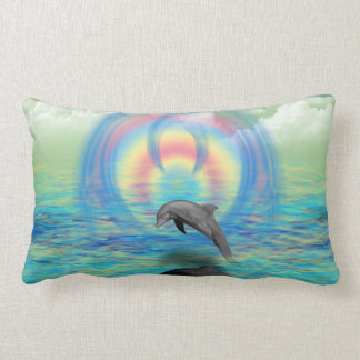 Dolphin Rising Lumbar Pillow