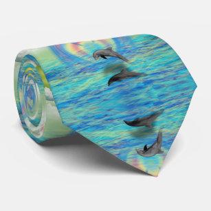 Dolphin Rising Neck Tie