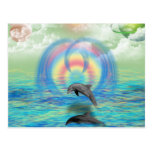 Dolphin Rising Post Card
