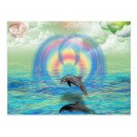 Dolphin Rising Postcard